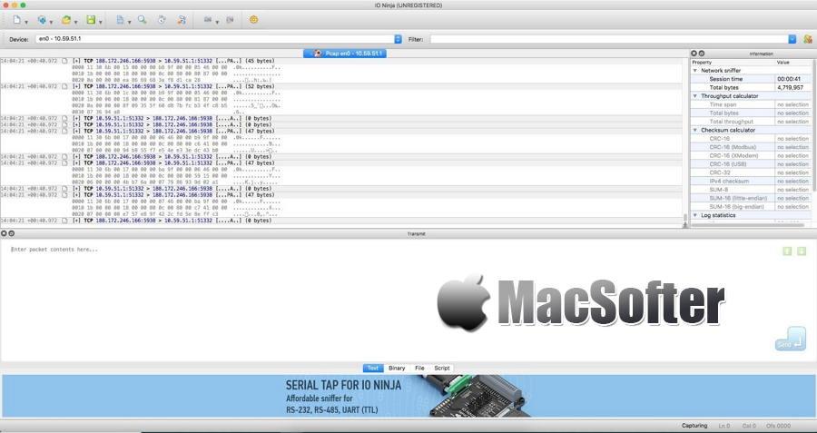 [Mac] IO Ninja : 多功能IO监控软件