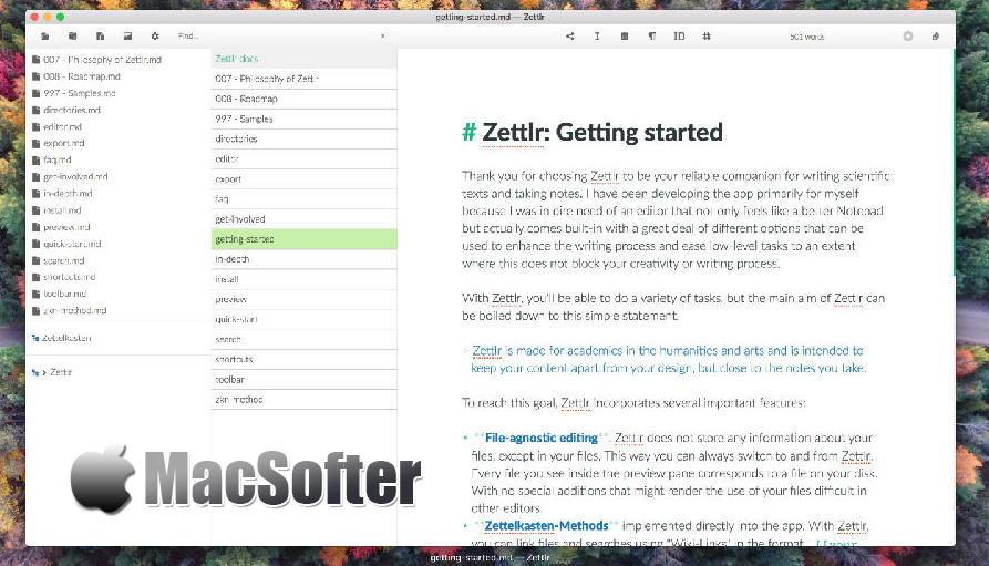 [Mac] Zettlr :简洁的Markdown编辑器