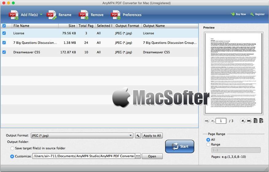 [Mac] AnyMP4 PDF Converter for Mac :具备OCR识别功能的PDF格式文件转换器