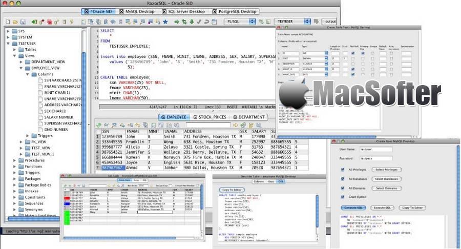 [Mac] RazorSQL : 专业的数据库管理工具