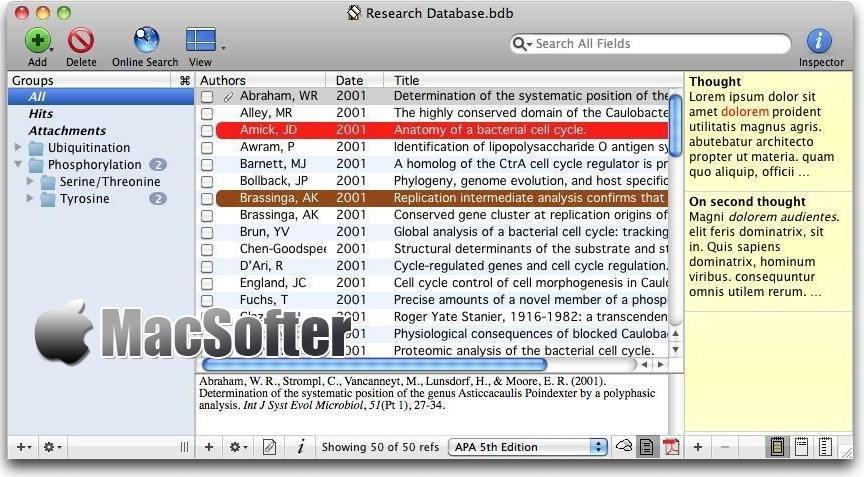 [Mac] Bookends :  高效的书籍文献管理工具