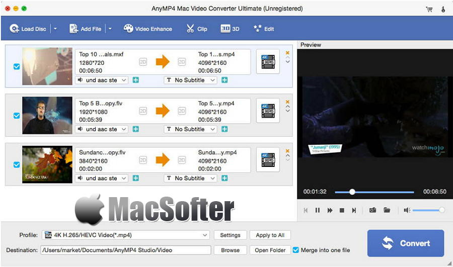 [Mac] AnyMP4 Mac Video Converter Ultimate  : 快速高效的视频转换工具