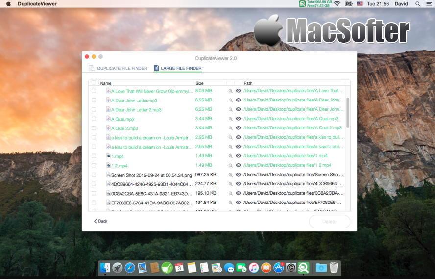 [Mac] DuplicateViewer : 易用的重复文件及大文件搜索查找工具