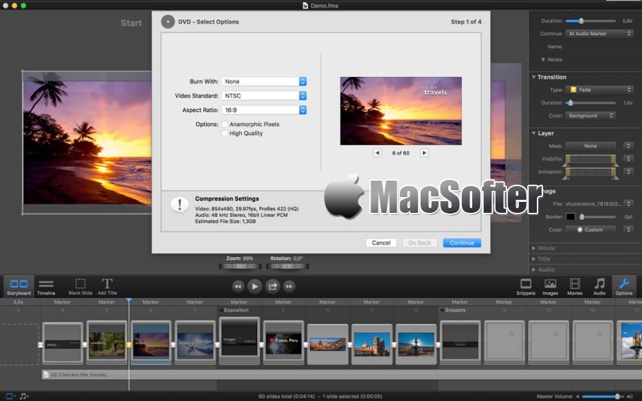 [Mac] FotoMagico : 专业的多媒体视频幻灯秀制作工具