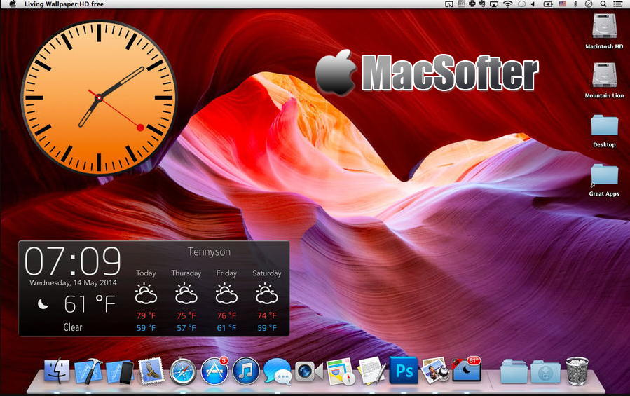 [Mac] Living Wallpaper & Weather HD : 华丽的动态桌面软件