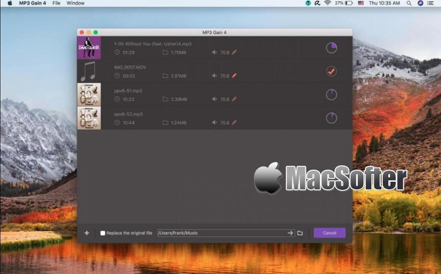 [Mac] MP3 Gain : 无损的音乐音频文件音量调整工具