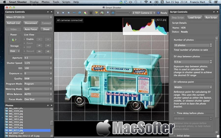 [Mac] Smart Shooter :数码相机控制软件