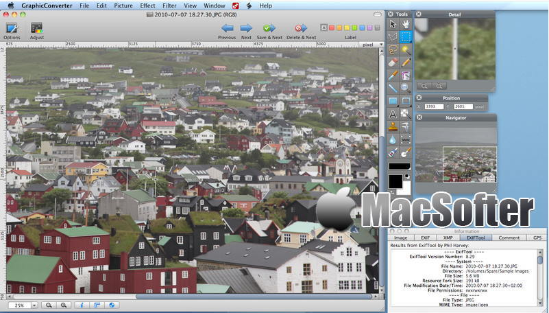 [Mac] GraphicConverter : 一体化看图及图像编辑处理工具