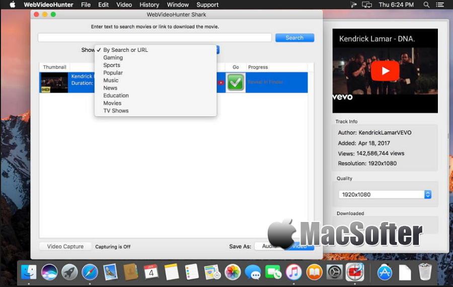 [Mac] WebVideoHunter Pro : 网页在线视频下载工具