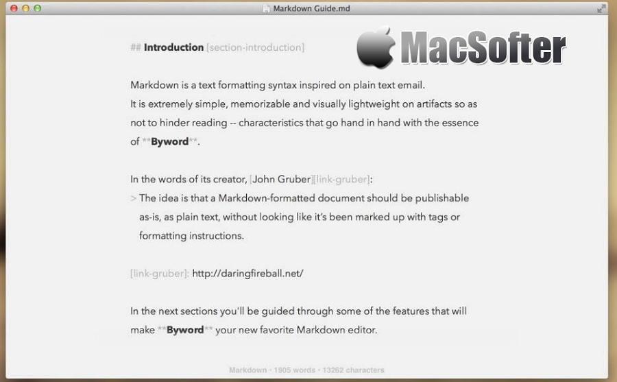 [Mac] Byword : 好用的Markdown编辑器
