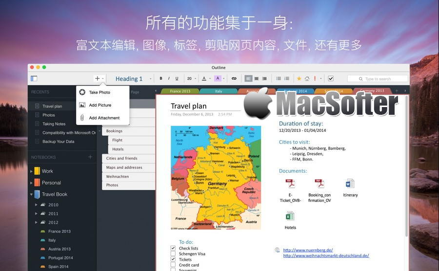 [Mac] Outline : 优秀的笔记软件