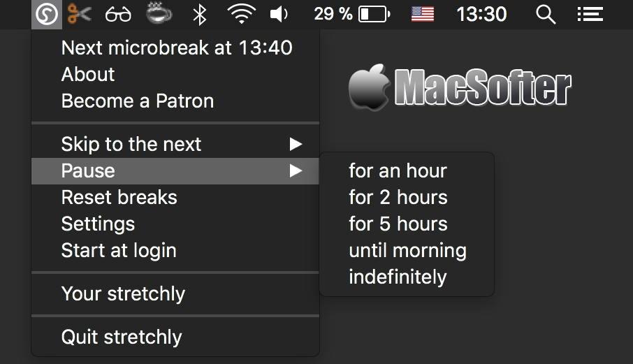 [Mac] stretchly : 支持强制模式的定时休息提醒软件