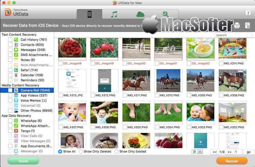 [Mac] UltData : iPhone数据恢复软件