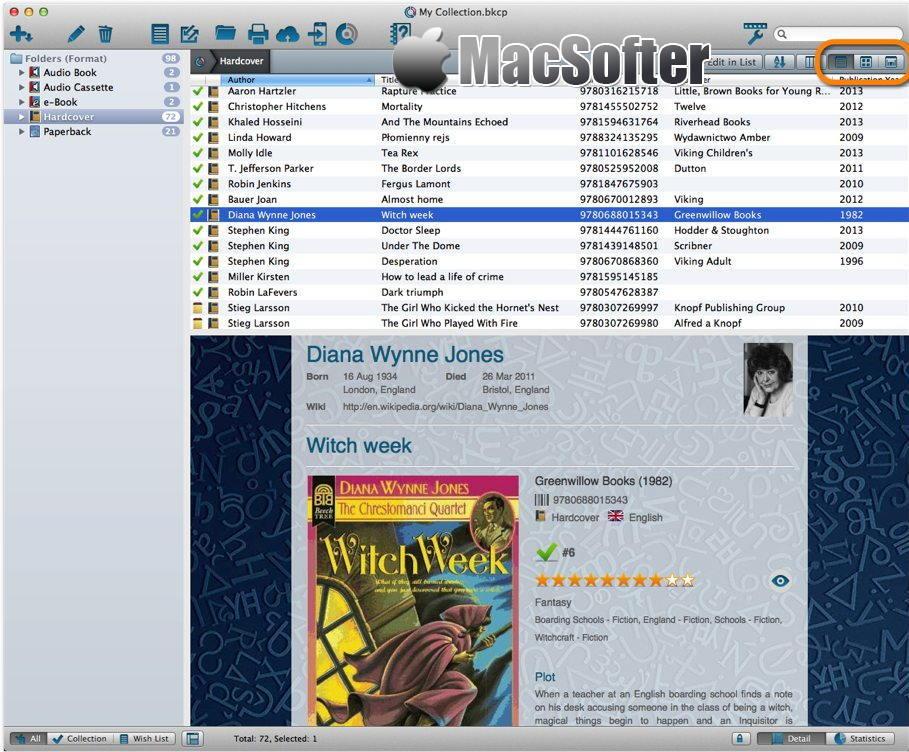 [Mac] Book Collector : 图书书籍信息收集管理软件