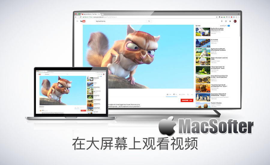 [Mac] Mirror for Samsung TV : Mac电脑屏幕影像镜像投放在三星智能电视机上播放