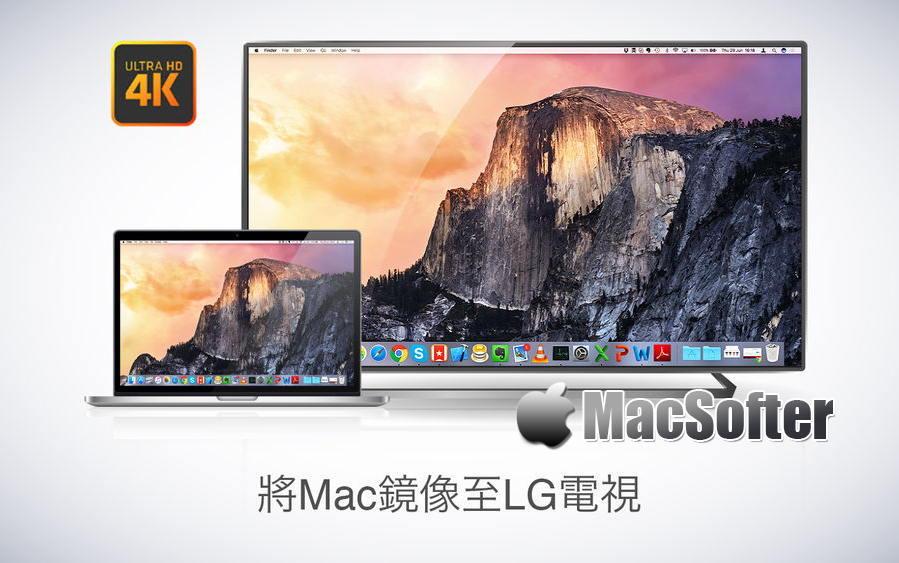 [Mac] Mirror for LG TV :Mac电脑屏幕影像镜像投放在LG智能电视机上播放