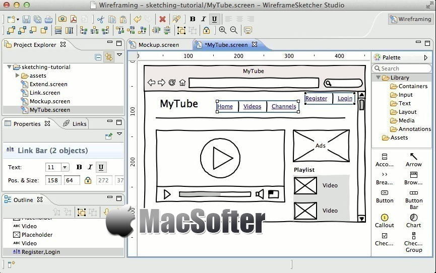 [Mac] WireframeSketcher :原型界面设计软件