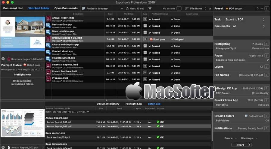 [Mac] Exportools Professional : InDesign及QuarkXPress文档的导出和预检工具