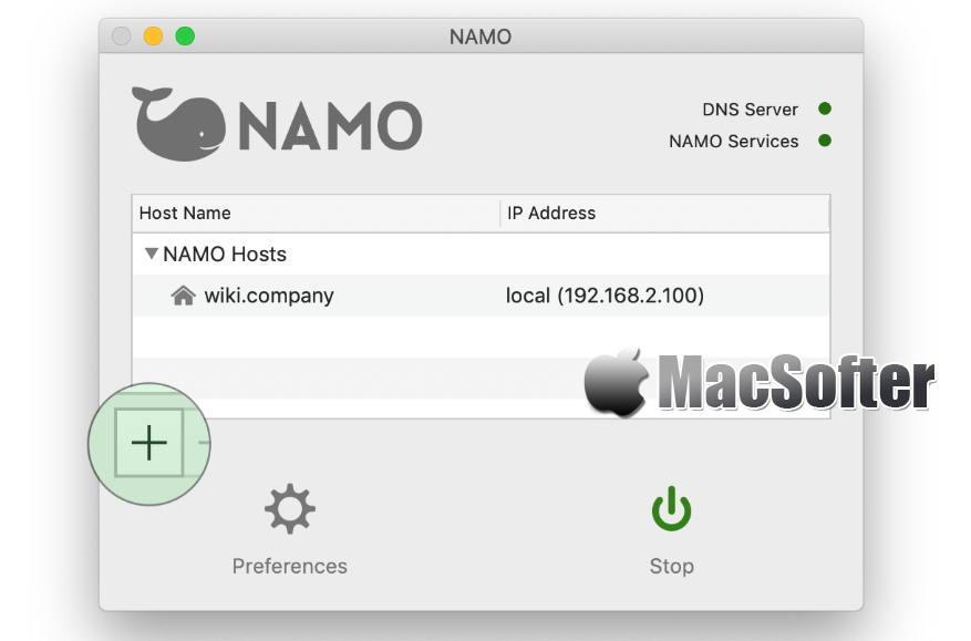 [Mac] NAMO : 本地域名解析服务器搭建工具