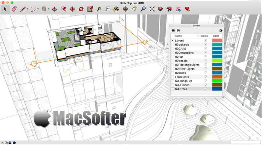 [Mac] SketchUp Pro : 草图大师