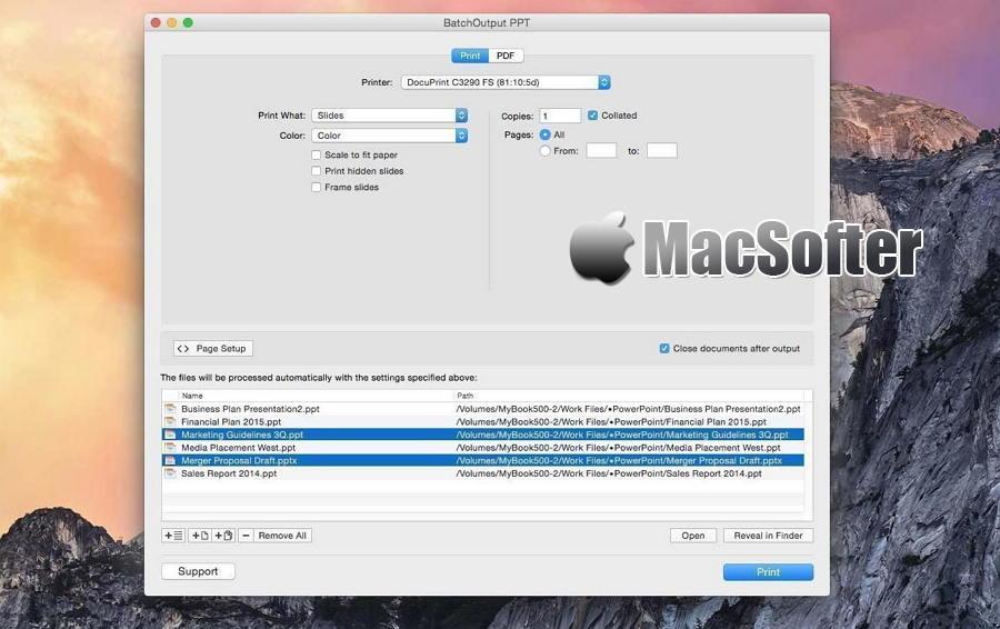 [Mac] BatchOutput PPT : 批量PPT文档转PDF文档及批量PPT文档打印工具