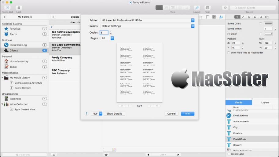 [Mac] Tap Forms : 数字资料管理工具