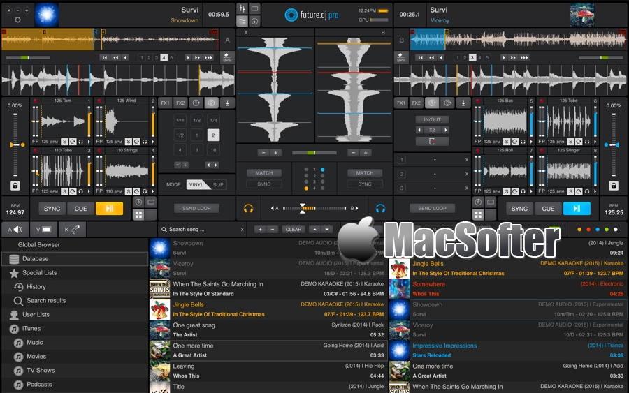 [Mac] XYLIO Future DJ Pro : 专业的DJ混音软件