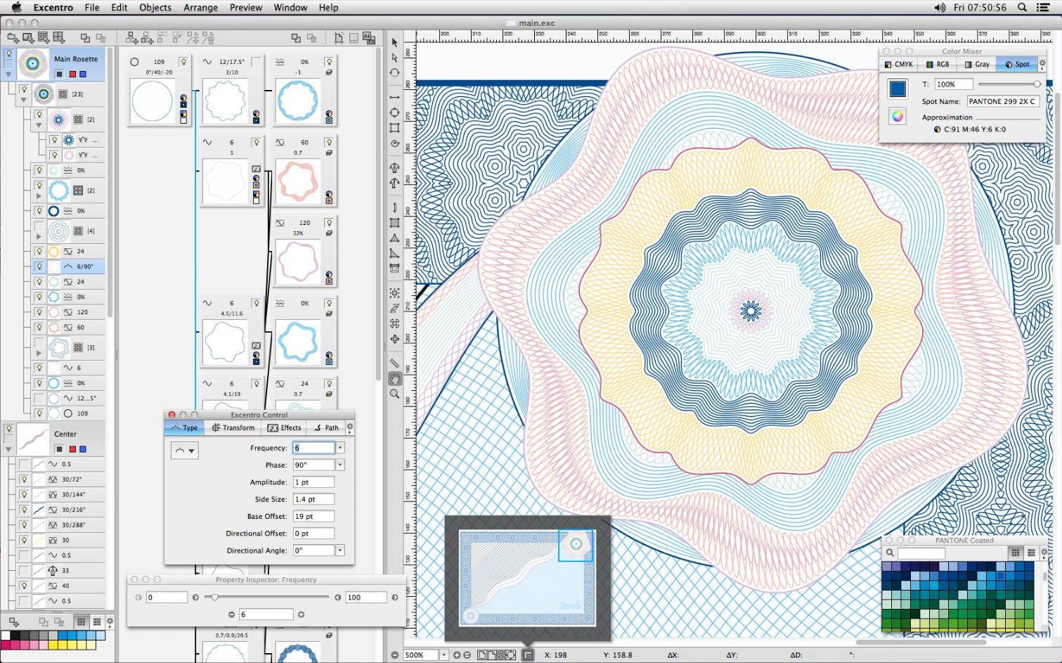 [Mac] Excentro  : 防伪图案设计制作工具