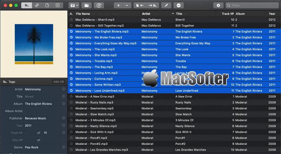 [Mac] Meta : 音乐元标签编辑工具
