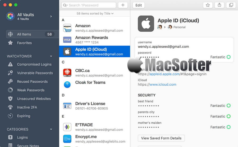 [Mac] 1Password : 密码管理及自动登录神器