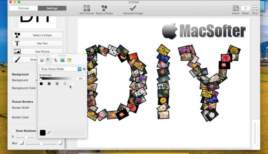 [Mac] FigrCollage : 方便好用的拼图软件