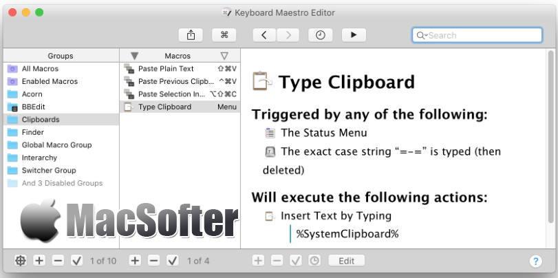 [Mac] Keyboard Maestro : 键盘快捷键设置及管理工具