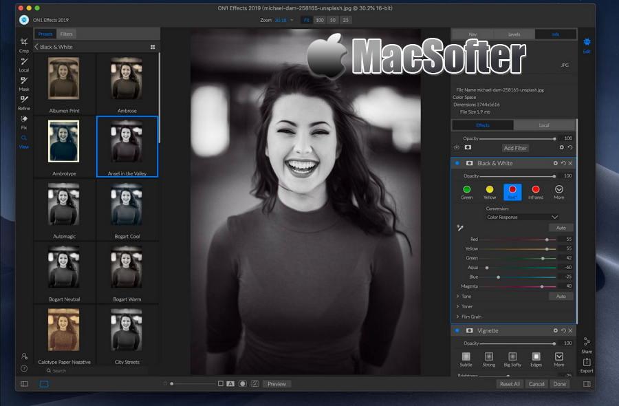 [Mac] ON1 Effects : 照片图像特效PS滤镜库