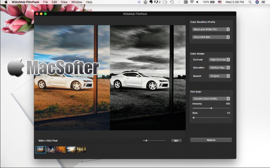 [Mac] WidsMob FilmPack : 照片滤镜特效处理工具