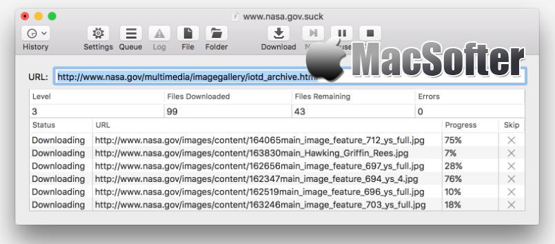 [Mac] SiteSucker : 强大的扒站工具