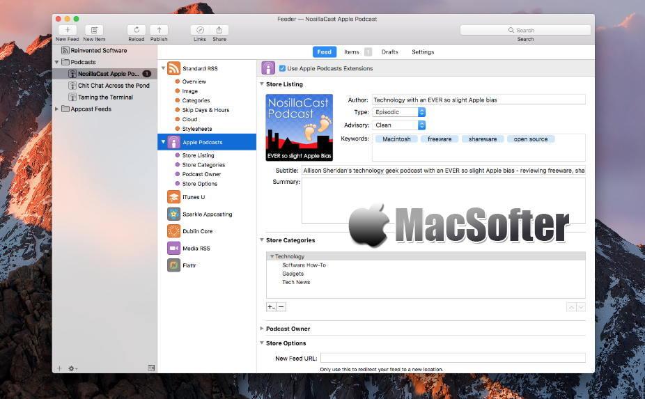 [Mac] Feeder : 高效的RSS创建及发布工具