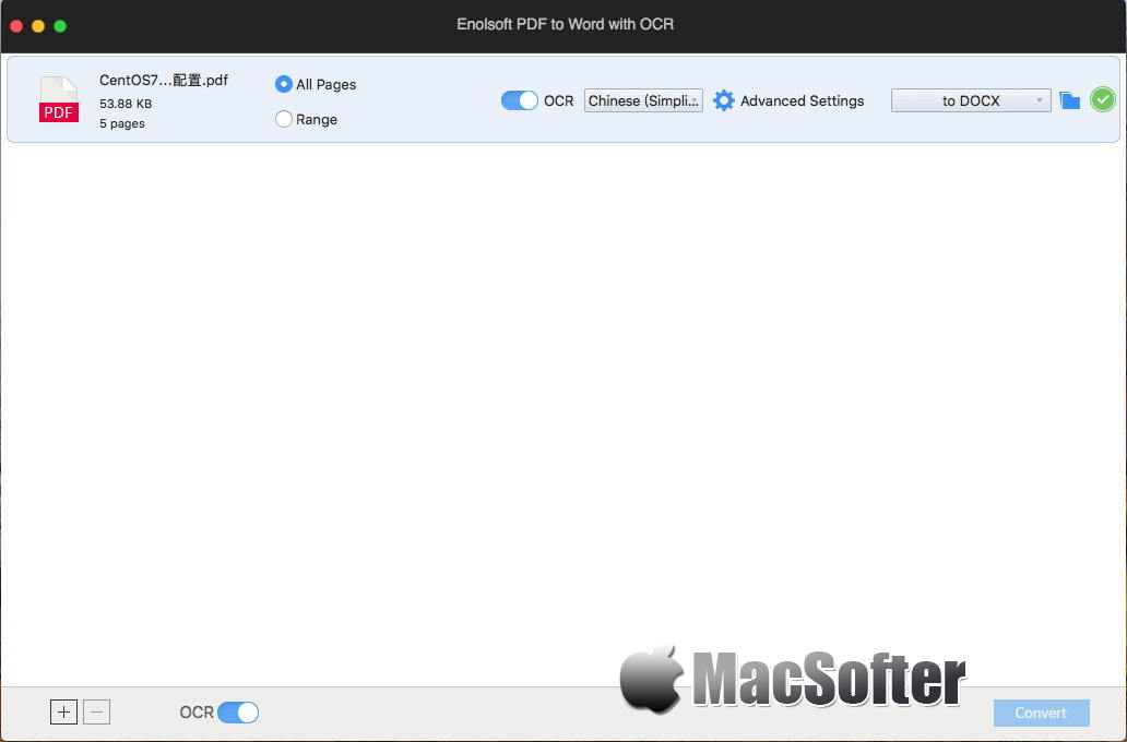 [Mac] Enolsoft PDF Converter OCR : 全能的PDF格式转换工具