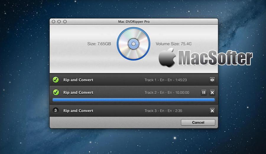 [Mac] MacX DVD Ripper Pro  : 高效的DVD格式转换工具