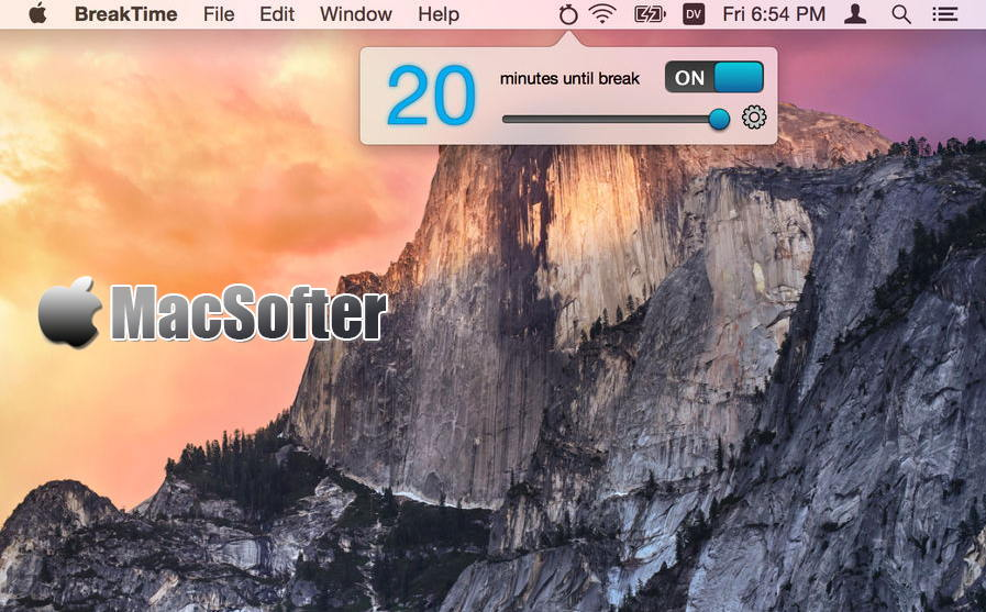 [Mac] BreakTime : 定时休息提醒软件
