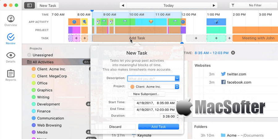 [Mac] Timing : 统计Mac使用习惯的时间跟踪软件