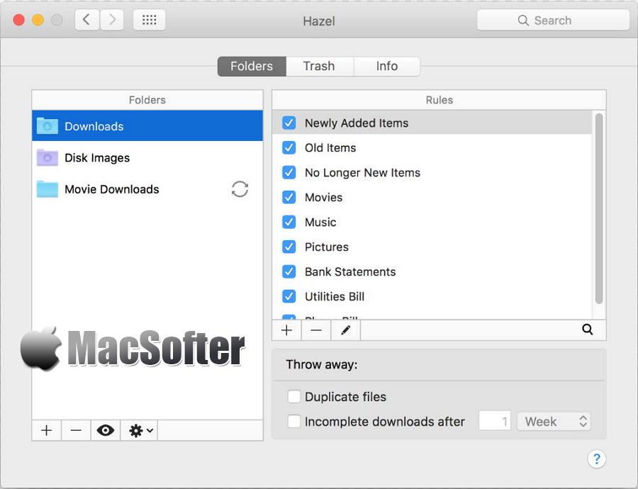 [Mac] Hazel : 文件自动分类整理工具