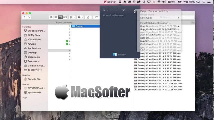 [Mac] GhostNote : 能够针对应用程序进行备忘备注的笔记软件
