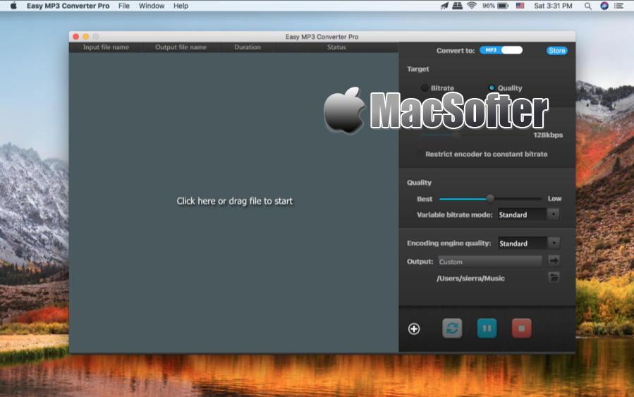 [Mac] Easy MP3 Converter Pro : 音乐格式转换工具