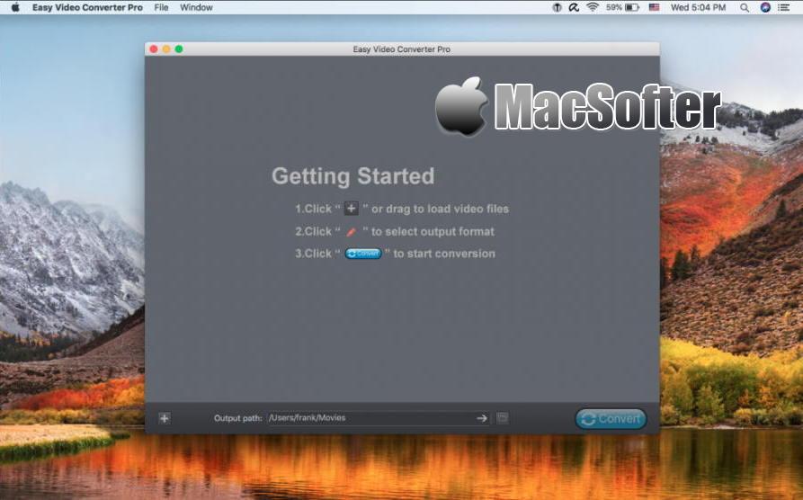 [Mac] Easy Video Converter Pro : 功能全面的视频格式转换器
