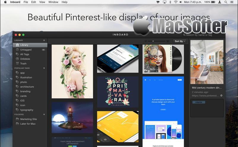 [Mac] Inboard : 截图图片等设计类素材管理工具
