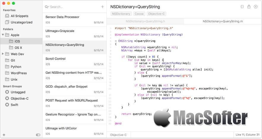 [Mac] SnippetsLab : 方便的代码管理工具