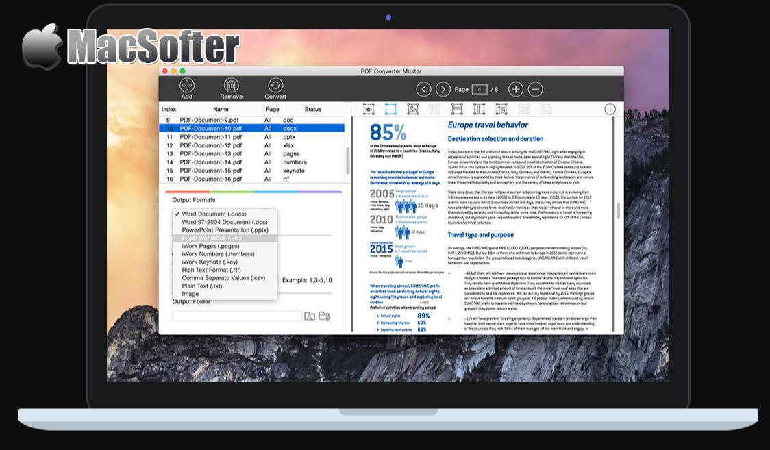 [Mac] PDF Converter Master : 专业的PDF转换器