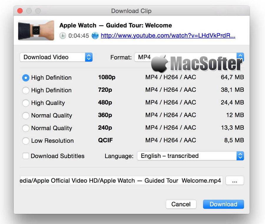 [Mac] 4k Video Downloader : 支持4K下载的在线网页视频下载工具