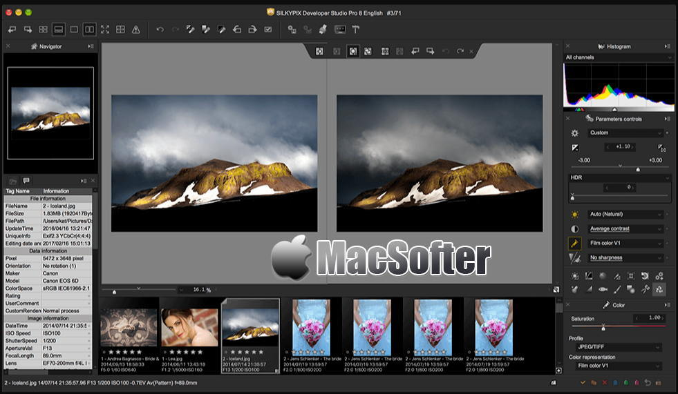 [Mac] SILKYPIX Developer Studio Pro : RAW照片处理工具