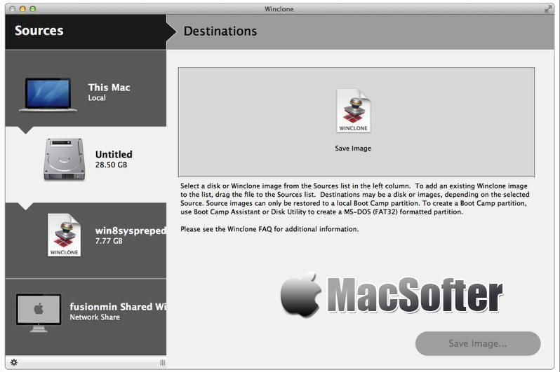 [Mac] Winclone Pro : Boot Camp的Windows分区备份还原工具
